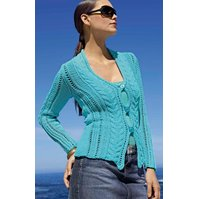 Lana Grossa CABLE AND LACE JACKET Cotofine