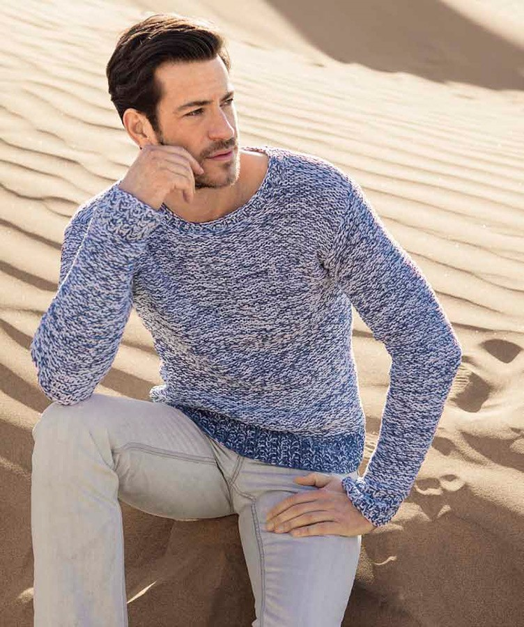 Lana Grossa MEN'S SWEATER Elastico