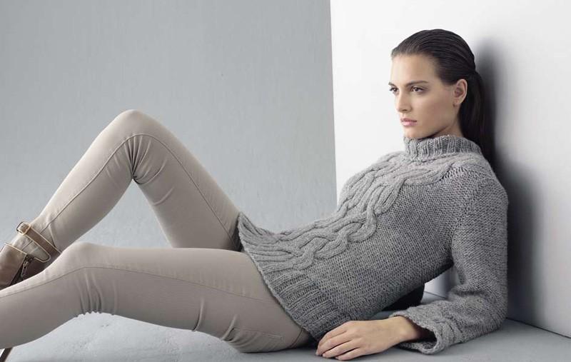 Lana Grossa Cable Sweater ALTA MODA ALPACA