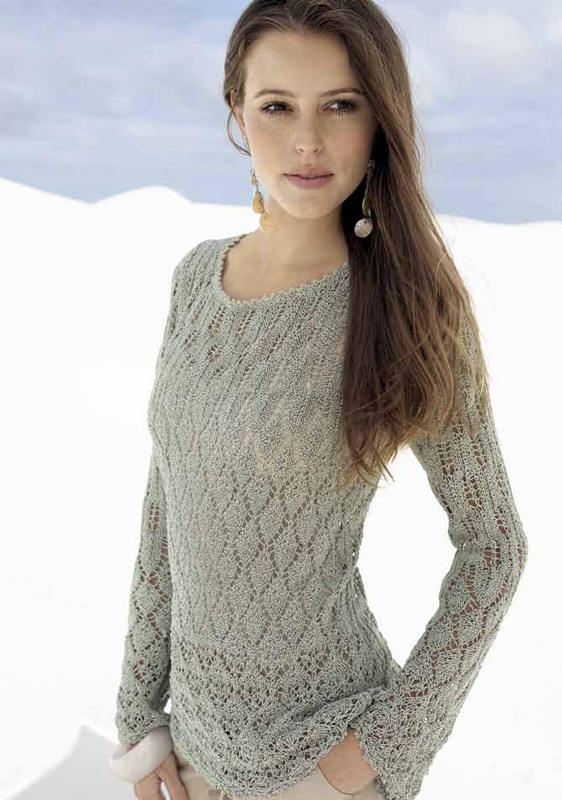 Lana Grossa Lace Sweater Secondo Filati No 41 Sommer 2011