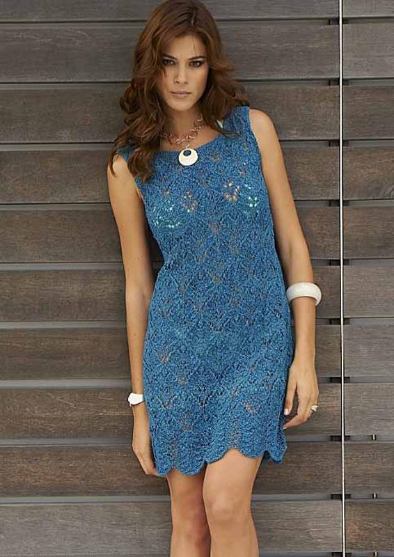 Lana Grossa Lace Dress Divino Filati No 41 Sommer 2011 Model