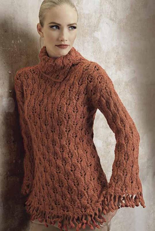 Lana Grossa Lace Sweater ALTA MODA ALPACA