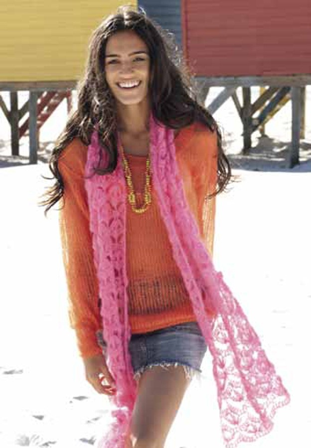 Lana Grossa Crochet Scarf SILKHAIR