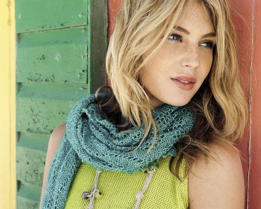 Lana Grossa Scarf LACE LUX