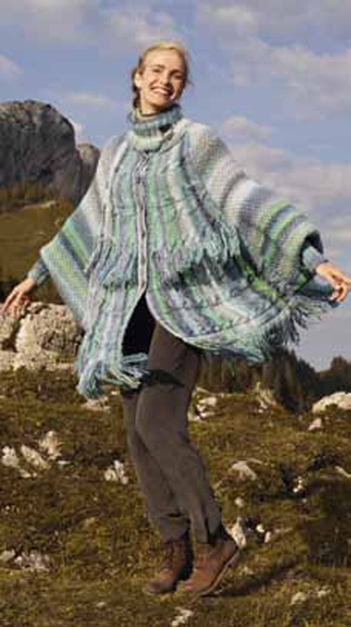 Lana Grossa CABLED PONCHO Medio