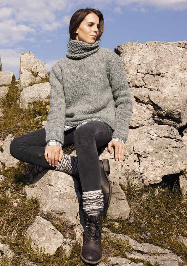 Lana Grossa Turtleneck Sweater GARZATO BABY