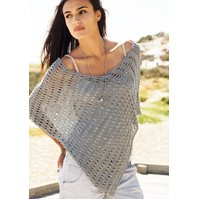 Lana Grossa PONCHO IN LACE PATTERN - Secondo Big