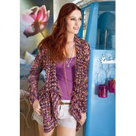 Lana Grossa LACE JACKET WITH HANDKERCHIEF FRONTS - Flu