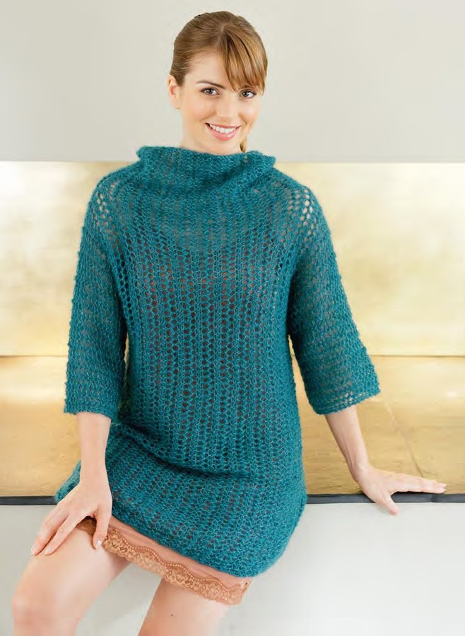 Lana Grossa Lace Sweater SILKHAIR