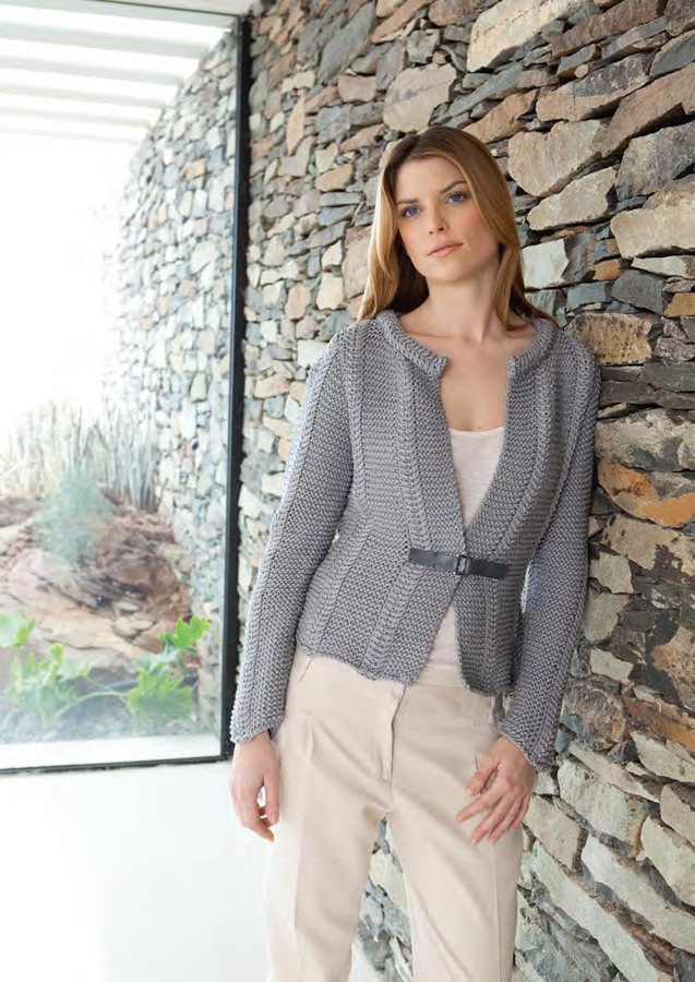 Lana Grossa Textured Jacket CASHSILK