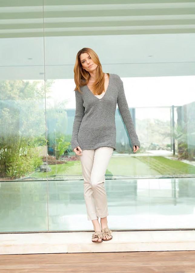 Lana Grossa V-Neck Sweater PARADISO