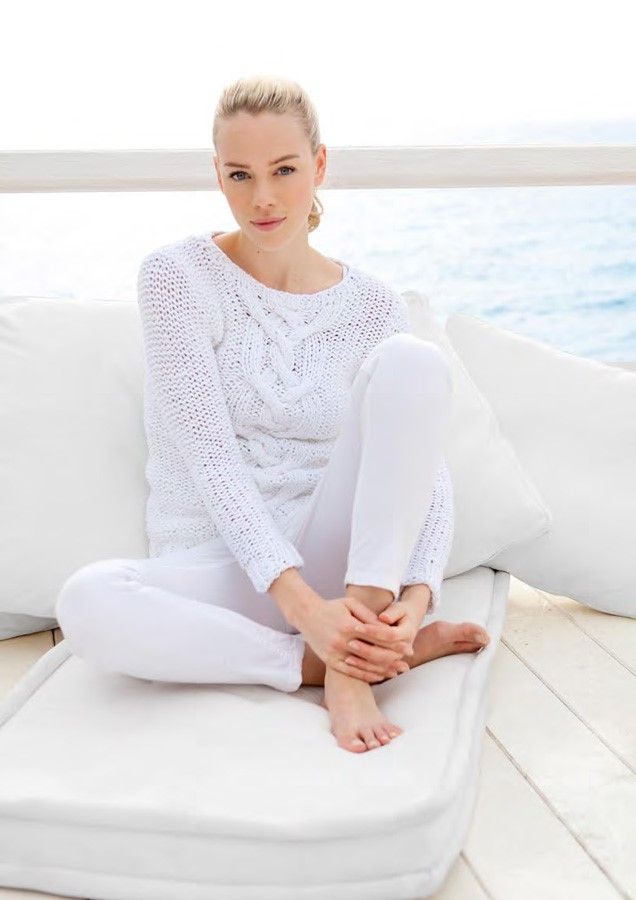 Lana Grossa Center Cable Sweater PARADISO