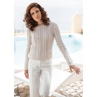Lana Grossa SWEATER IN CABLE/RIB PATTERN Soloseta