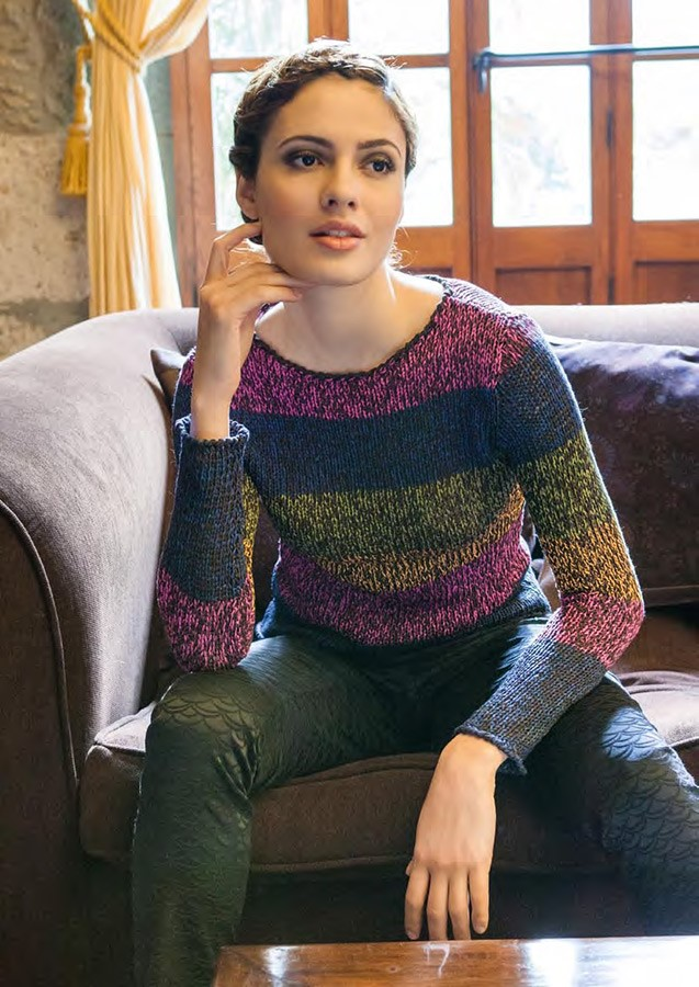 Lana Grossa STRIPED SWEATER Aria