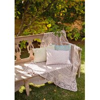 Lana Grossa CROCHET THROW WITH FLOWER EDGING Elastico Big