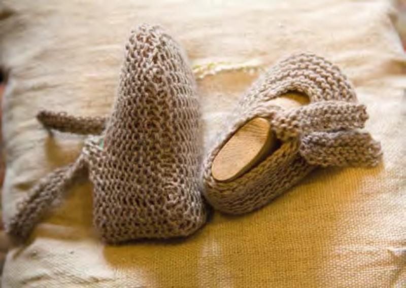 Lana Grossa Baby Ballerina Slippers SOLOCASHMERE 110