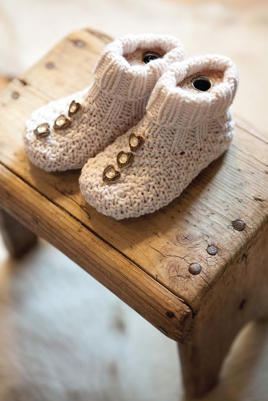 Lana Grossa Baby Booties COOL WOOL big
