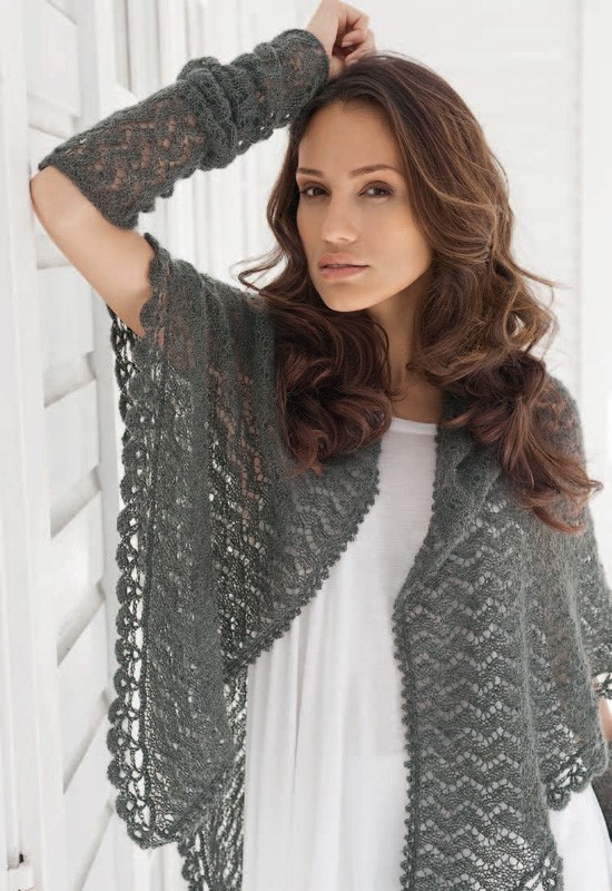 Lana Grossa TRIANGULAR SHAWL Silkhair