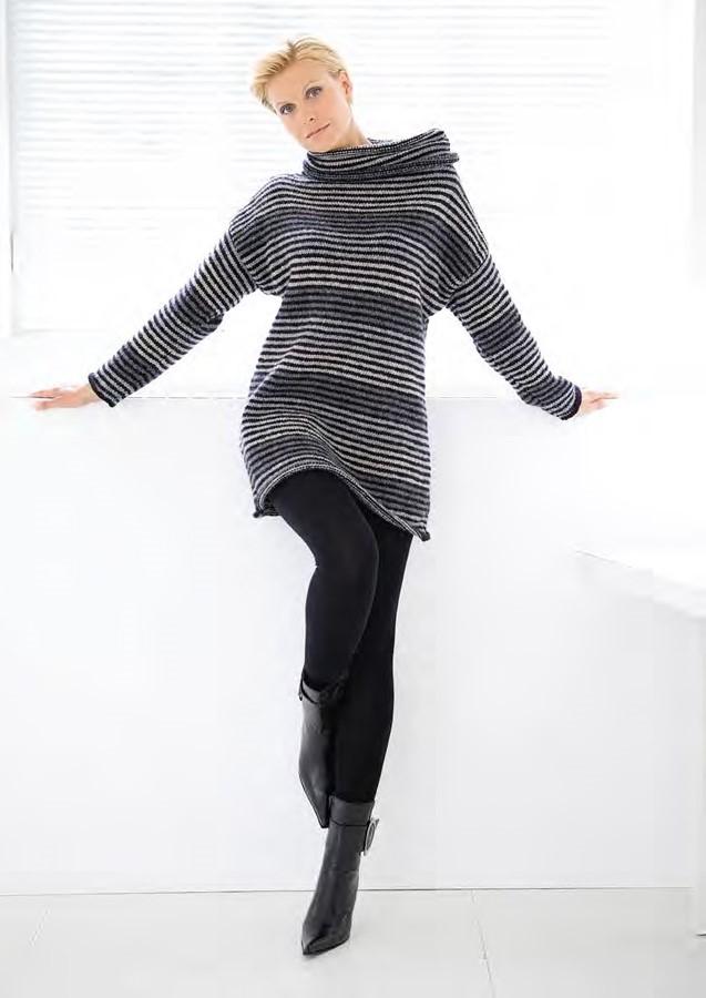 Lana Grossa Striped Sweater ALTA MODA ALPACA