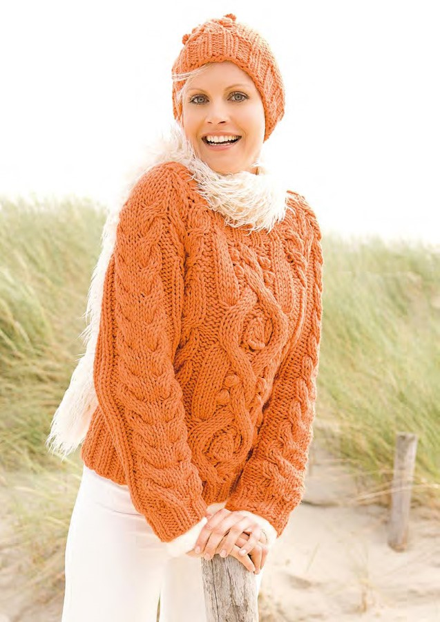 Lana Grossa Cable Sweater + Hat MILLE II