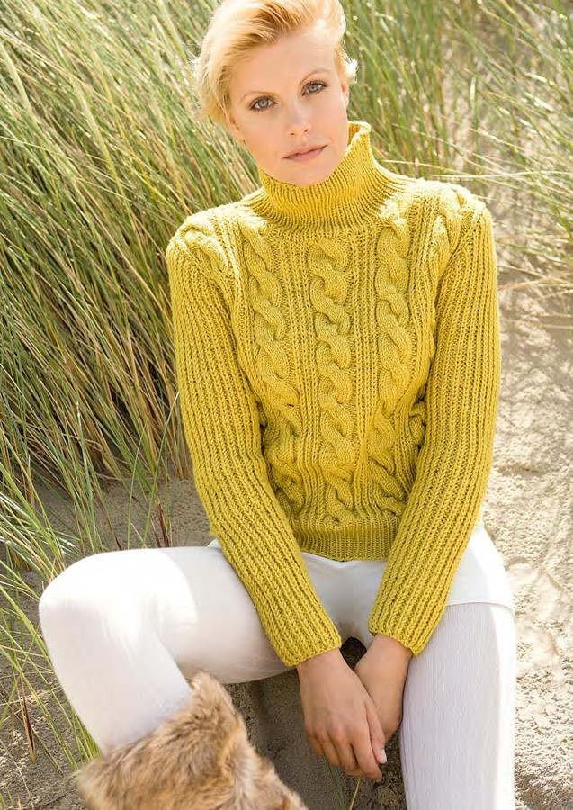 Lana Grossa Brioche Stitch and Cable Sweater BINGO