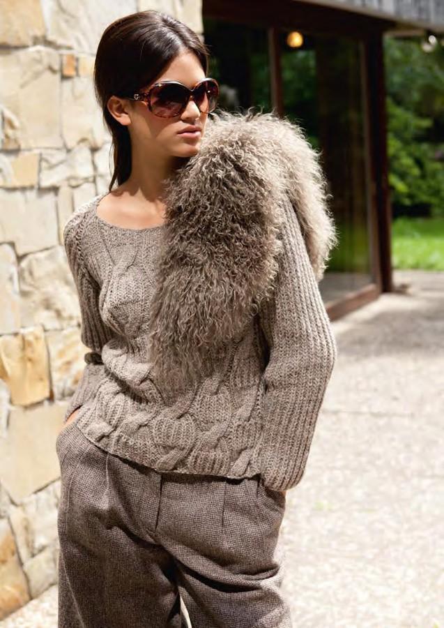Lana Grossa Raglan Sweater ALTA MODA ALPACA