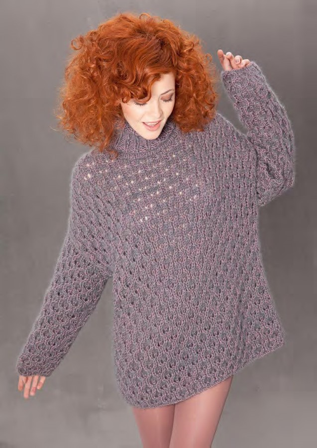 Lana Grossa Lace Sweater BINGO + SILKHAIR