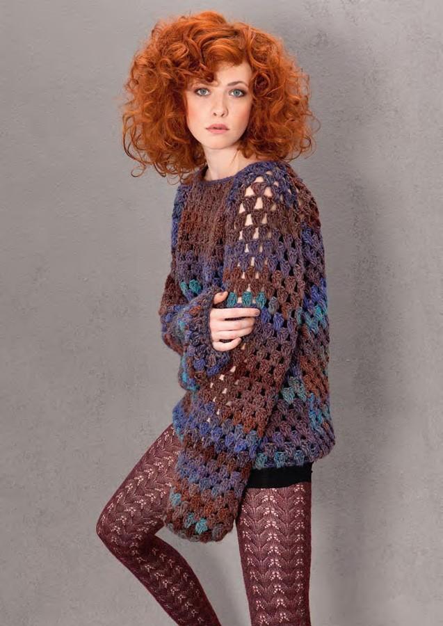 Lana Grossa Crochet Sweater MEDIO