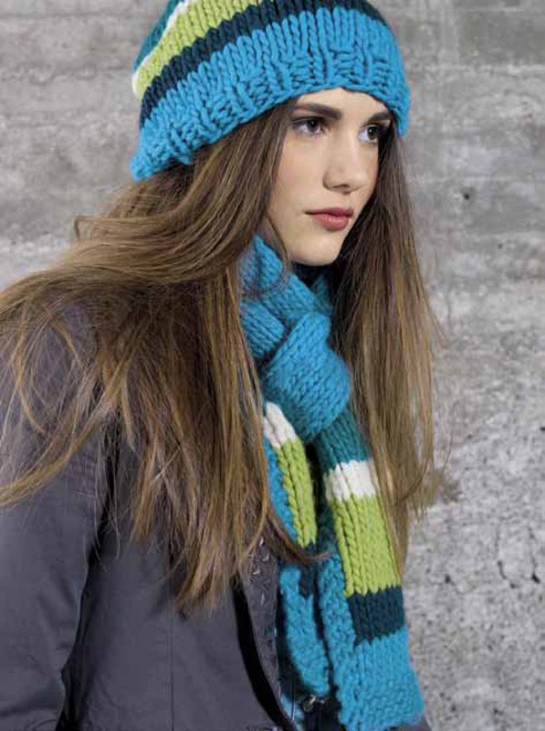 Lana Grossa Striped scarf LEI