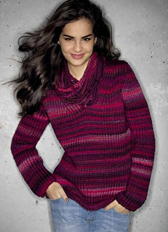 Lana Grossa V Neck Sweater Everybody Ragazza No 3 Model 42