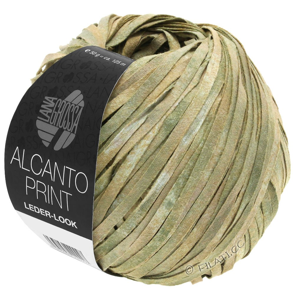 Lana Grossa ALCANTO Print   101-natural/beige/gray green