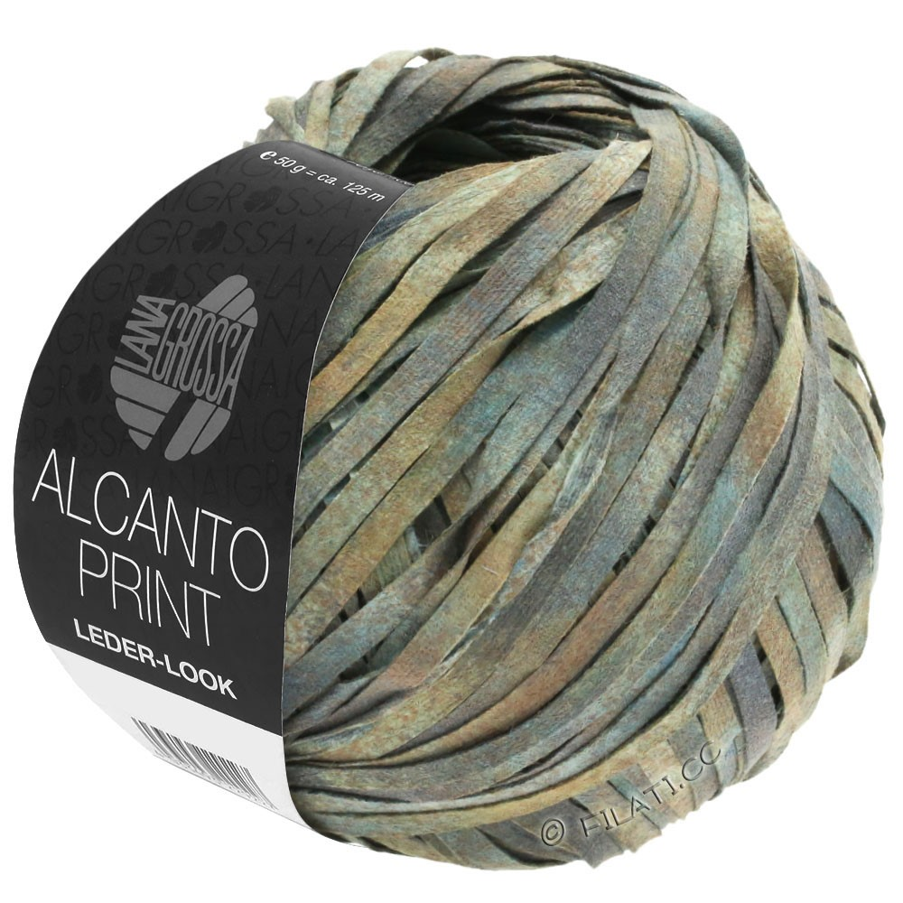 Lana Grossa ALCANTO Print | 102-gray/beige