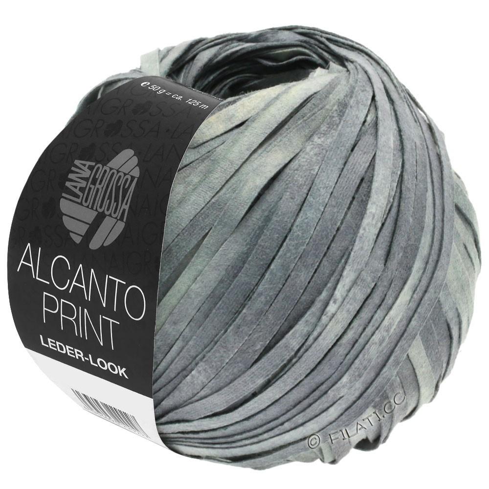Lana Grossa ALCANTO Print   103-medium gray/light gray/natural