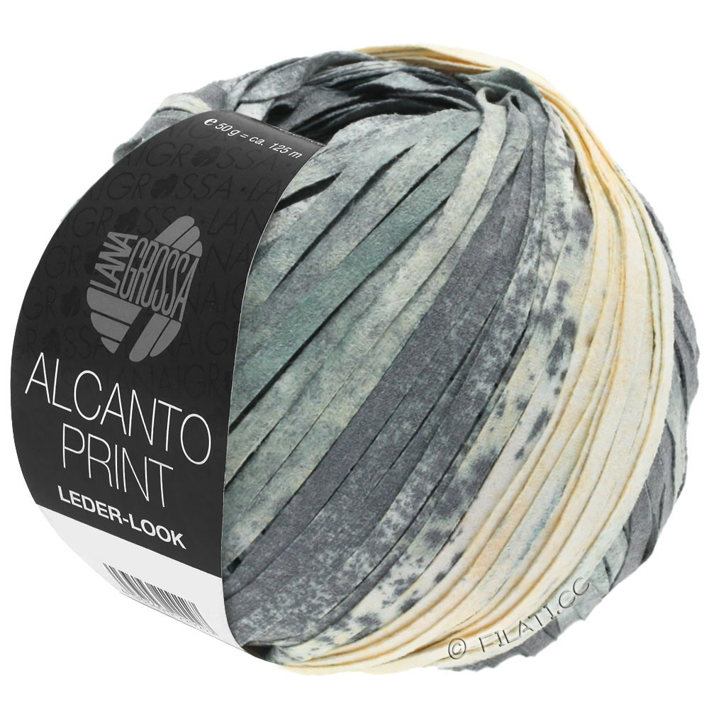 Lana Grossa ALCANTO Print | 203-gray/white