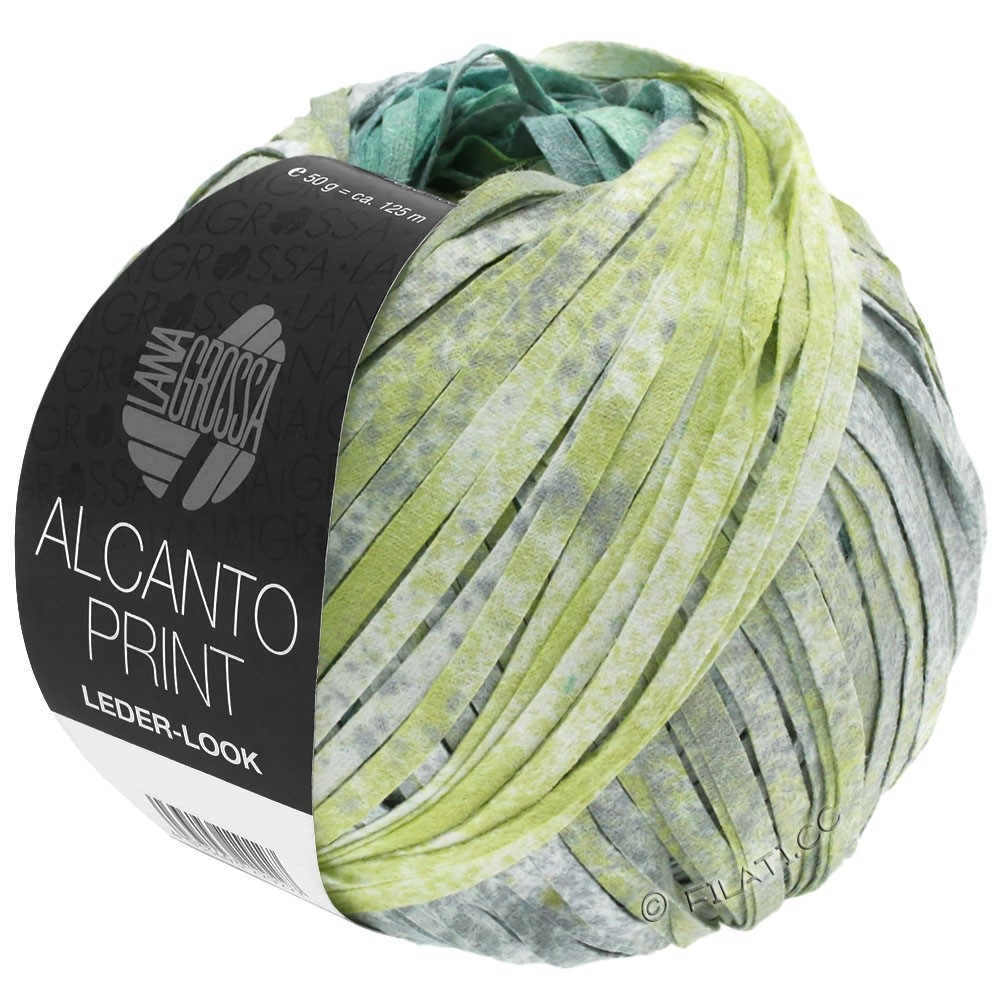 Lana Grossa ALCANTO Print   204-turquoise/white