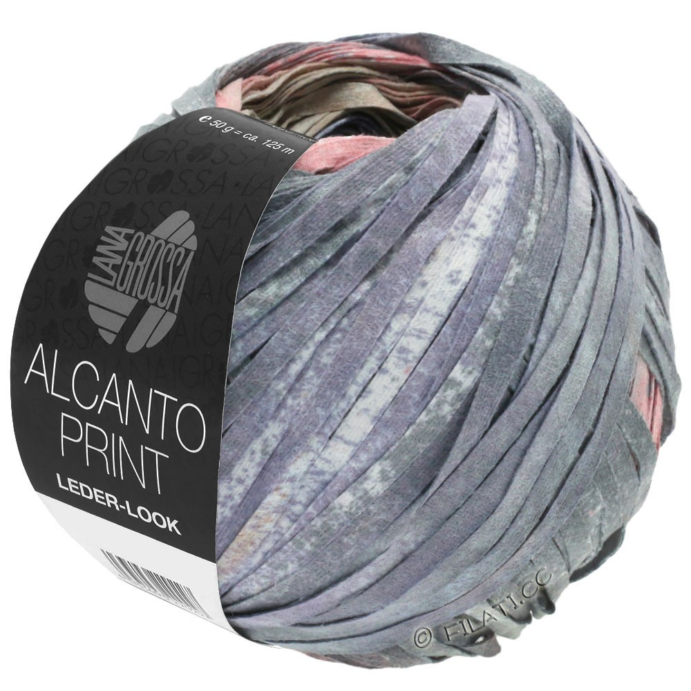 Lana Grossa ALCANTO Print   205-natural/beige/gray/antique pink