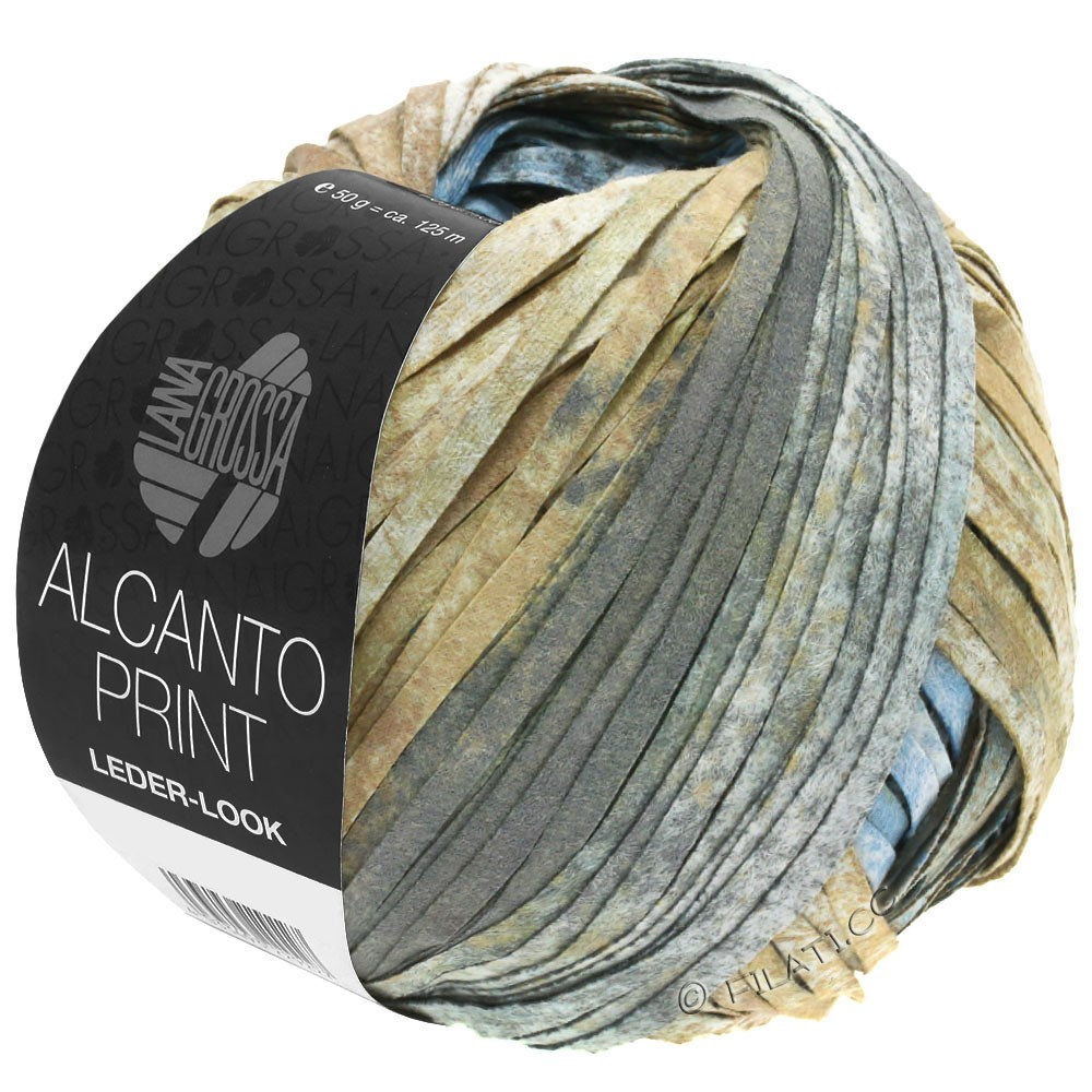 Lana Grossa ALCANTO Print   206-natural/sand brown/gray