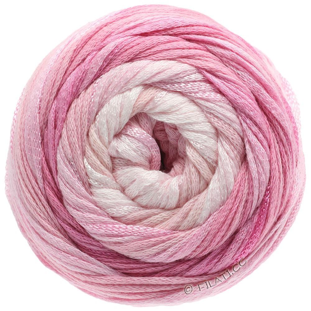 Lana Grossa ALLEGRO Degradé | 201-raw white/subtle rose/rose/carnation/pink
