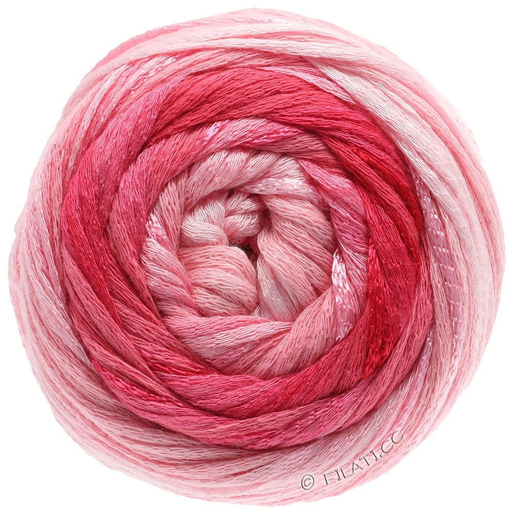 Lana Grossa ALLEGRO Degradé | 202-pale pink/rose/raspberry/dark red