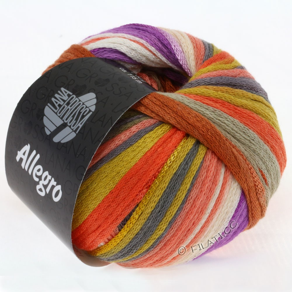 Lana Grossa ALLEGRO | 007-mustard/coral/violet/light-/dark gray
