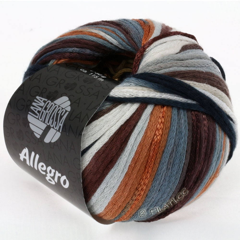 Lana Grossa ALLEGRO   010-camel/dark brown/slate/silver gray/rust/natural