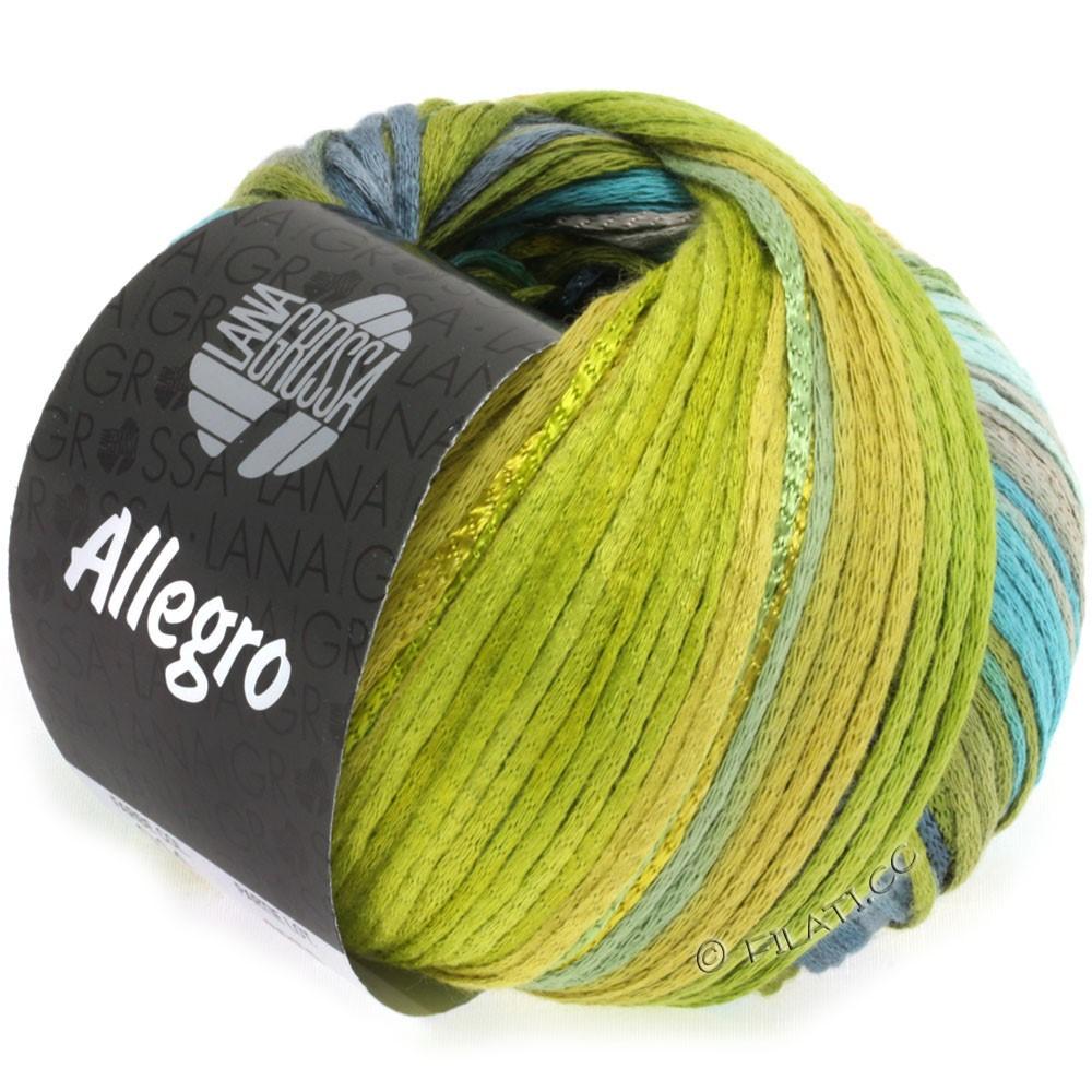 Lana Grossa ALLEGRO | 014-turquoise/olive green/steel blue/hay green/moss green