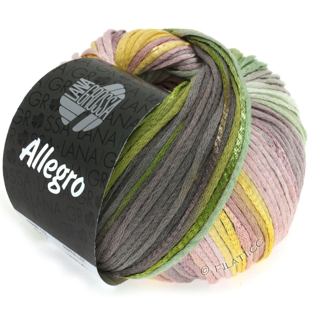 Lana Grossa ALLEGRO | 017-yellow/green/mocha/tulipwood
