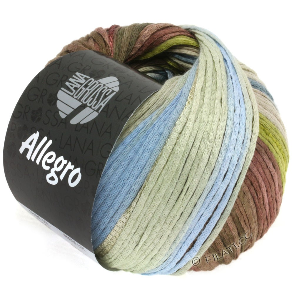 Lana Grossa ALLEGRO | 019-olive green/smoke blue/nougat/gray beige