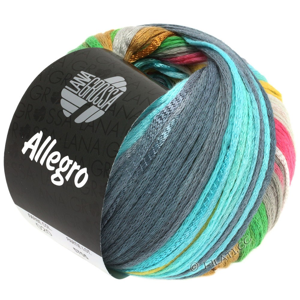 Lana Grossa ALLEGRO | 020-silver gray/light yellow/rose/light green/blue gray