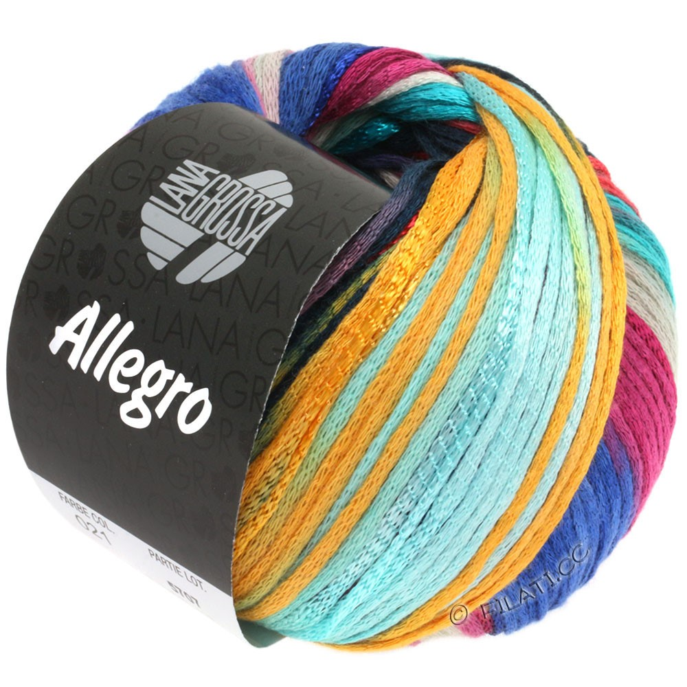Lana Grossa ALLEGRO | 021-light turquoise/blue/petrol/mandarine/clay red