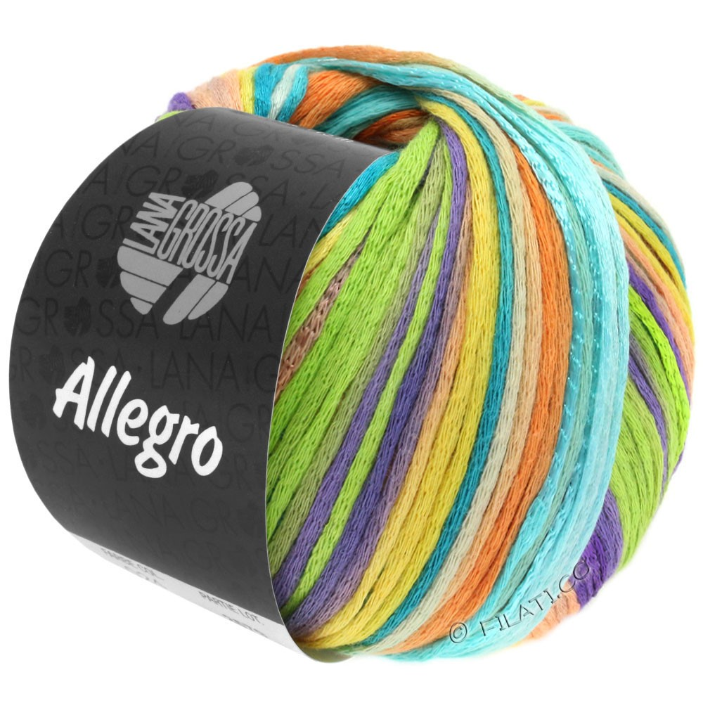 Lana Grossa ALLEGRO | 025-purple/citrus yellow/turquoise/mandarin