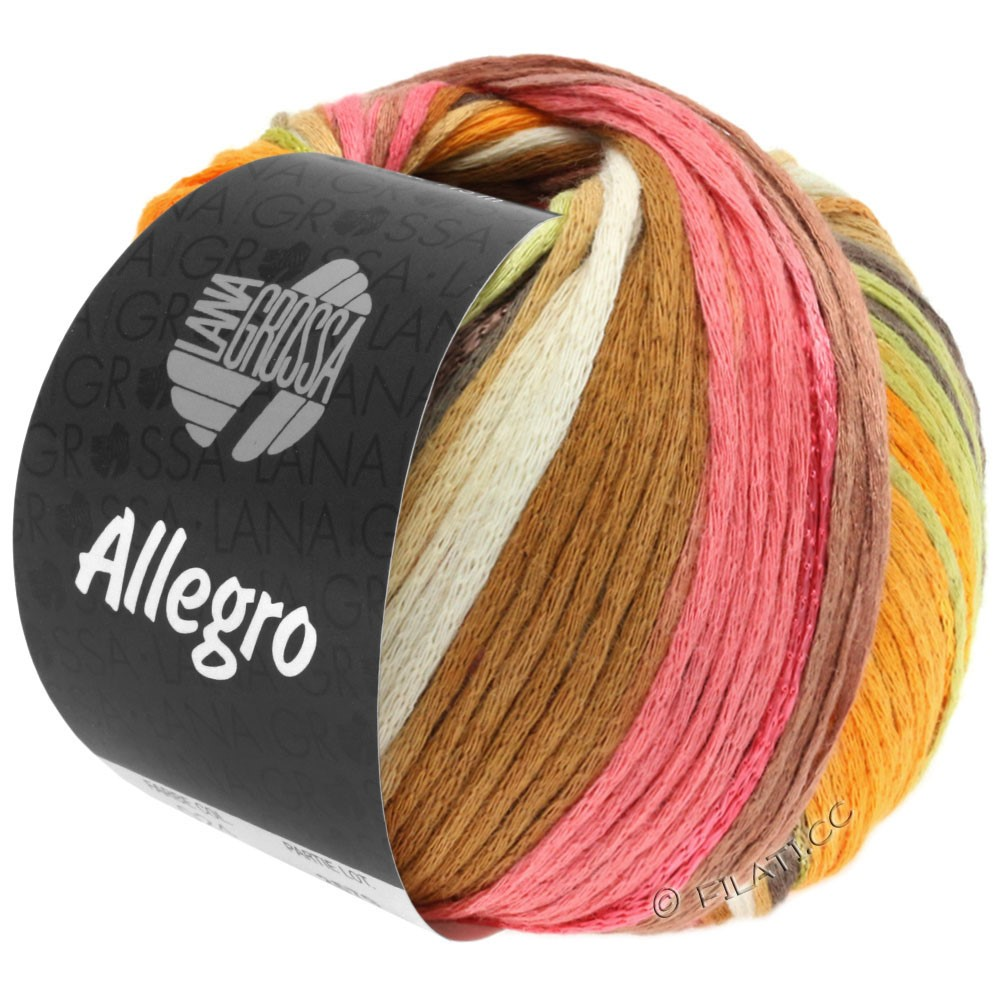 Lana Grossa ALLEGRO | 026-white/amber/rose/tulipwood/copper