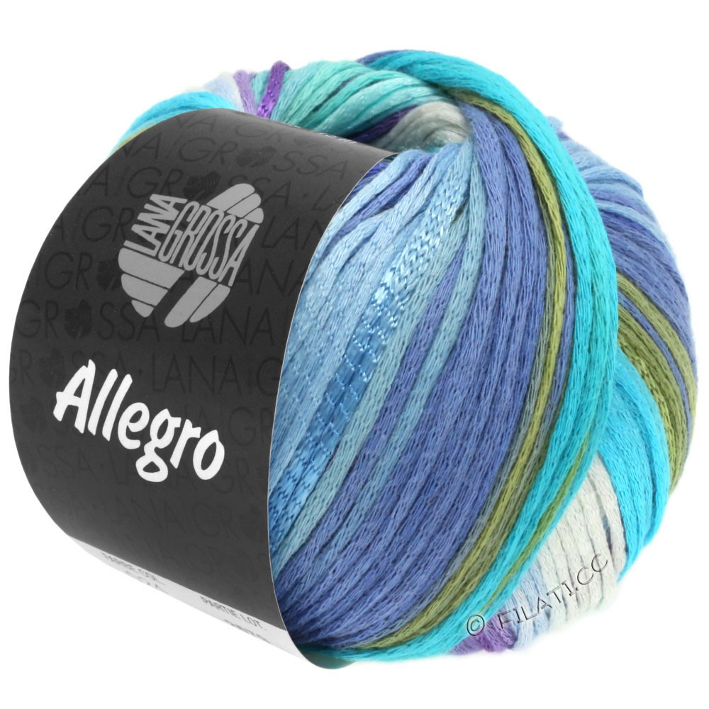 Lana Grossa ALLEGRO | 028-white/light blue/sky blue/light turquoise/pale green