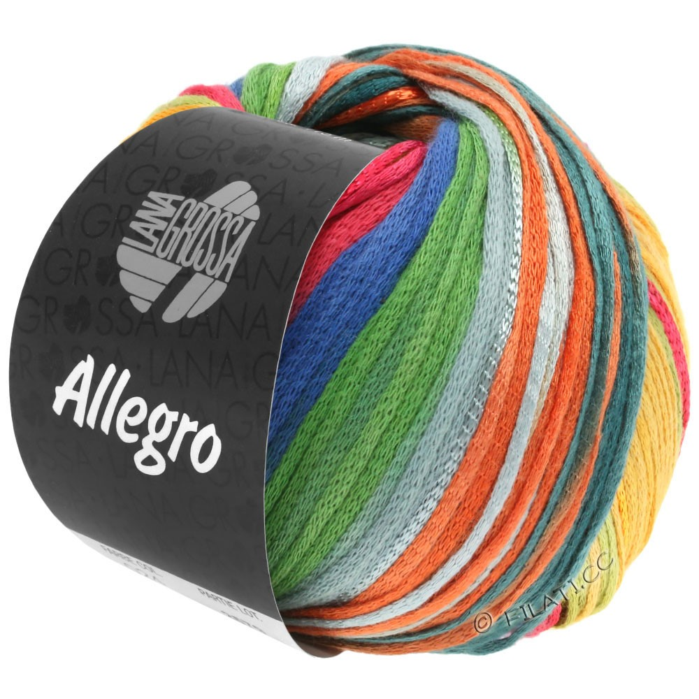 Lana Grossa ALLEGRO   032-rust/honey yellow/petrol/green/light gray/gray brown/blue
